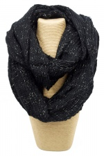 Black Lurex Chunky Knitted Snood