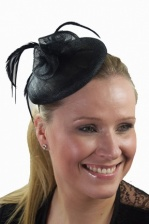 Black Pill Box & Feather Hairband Fascinator