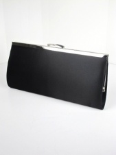 Black Satin Classic Quality Clutch Bag
