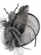 Black Hat Fascinator with Hairband
