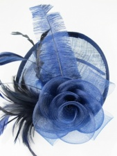 Navy Blue Hat Fascinator with Hairband