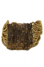 Bronze Beaded Bracelet with Sequin Beads
