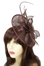 Brown Hat Fascinator with Clip & Hairband