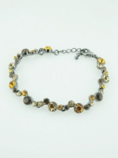 Brown Tone Delicate Crystal Fashion Bracelet