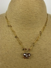 Brown Crystal Butterfly & Silk Thread Nannapas Necklace