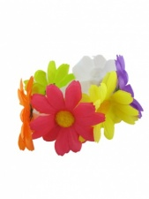 Brightly Coloured Festival Daisy Bun Garland