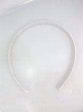 Childrens Simple & Pretty White Satin Hairband