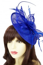 Cobalt Blue Hat Fascinator with Hairband