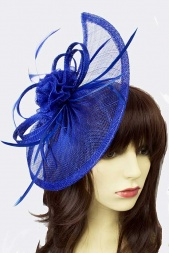 Cobalt Blue Large Contemporary Fascinator
