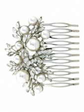 Faux Pearl and Crystal Pretty Hair Comb