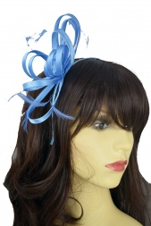 Cornflour Blue Satin Loop Hairband Fascinator