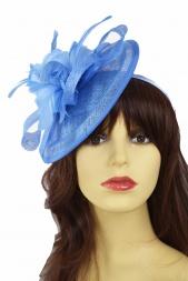 7113f341a4 Cornflour Blue Hat Fascinator with Hairband
