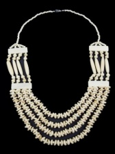 Cream Natural Bead Multi Strand Ethnic Necklace