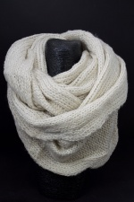 Cream Lurex Knitted Chunky Snood