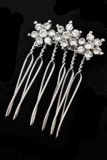 Sparkling Crystal Flower Hair Comb