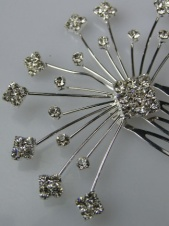 Crystal and Silver Spray Bridal Comb