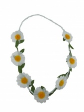 Elasticated Daisy Hair Garland