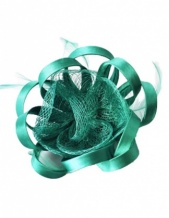 Emerald Green Small Flower Clip Fascinator