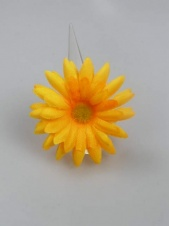 Orange Large Fabric Daisy Adjustable Fashion Ring