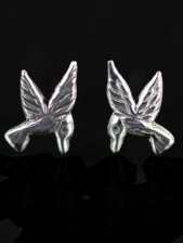 925 Sterling Silver Flying Bird Stud Earrings & Gift Box