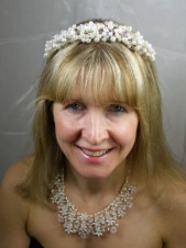 Freshwater Pearl and Crystal Handwired Hairband Tiara
