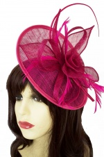 Fuchsia Pink Hat Fascinator with Hairband