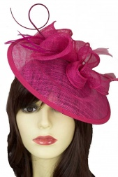 Fuchsia Pink Hat Fascinator with Hairband 537f9bf5150