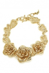 Pretty Gold Flower Fashion Bracelet
