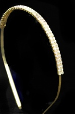 Gold & Double Row Crystal Aliceband