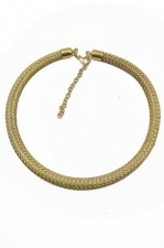 Simple Gold Effect Elegant Necklace