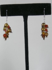 Gold Freshwater Pearls & Crystal Nannapas Earrings