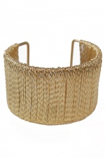 Gold Colour Wired Fashion Cuff