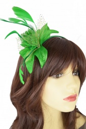 Green Flower Hairband Fascinator