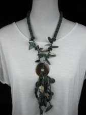 Green Beaded Ethnic Necklace