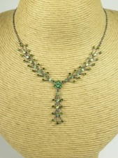 Green Crystal Delicate Fashion Necklace