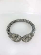 Grey Bangle with Crystals