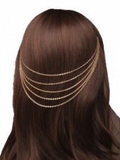 Gold Colour Hair Chains
