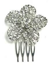Pretty Flower Hair Comb