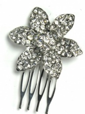 Crystal Daisy Hair Comb