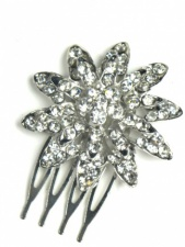 Crystal Flower Pretty Haircomb