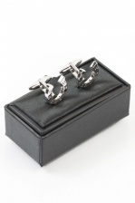 Silver Horseshoe Cufflinks with Gift Box