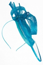 Elegant Kingfisher Blue Hat Fascinator with Aliceband