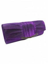 Metallic Purple Lurex Clutch Bag