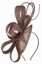 Mocha Contemporary Style Sinamay Hairband Fascinator