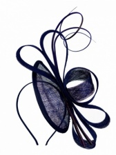 Navy Blue Contemporary Hairband Fascinator
