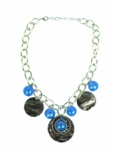Blue and Silver Quality Fashion Necklace