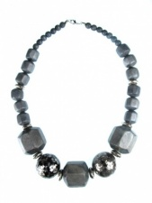 Grey Chunky Bead Quality Fashion Necklace