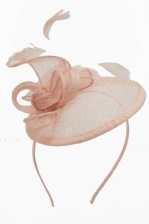 Nude Small Saucer Hat Hairband Fascinator