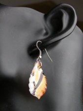 Orange and Brown Glass Fashion Earrings