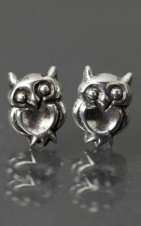 925 Sterling Silver Owl Stud Earrings with Gift Box